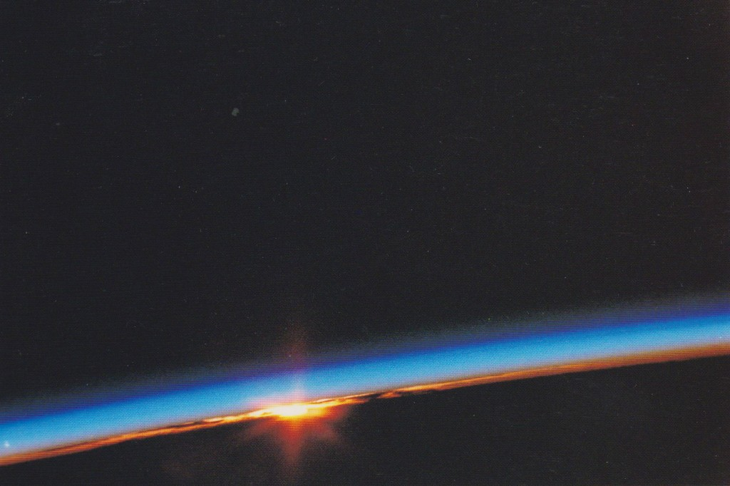 Sunset lit by Earth's atmosphere 002